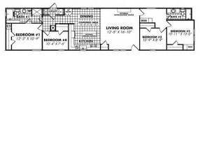 18 Wide Mobile Home Floor Plans by 18 X 80 Single Wide Mobile Home Floor Plans Trend Home