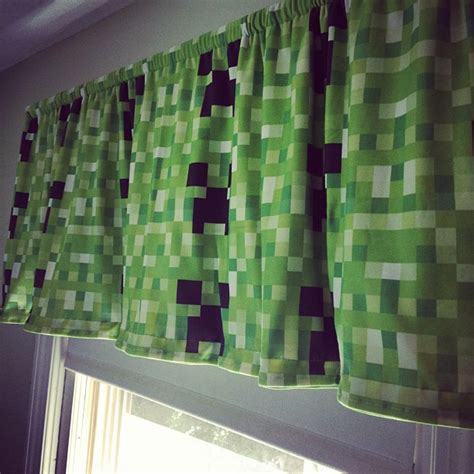 minecraft curtains for sale minecraft creeper curtain valance handmade by me for ben