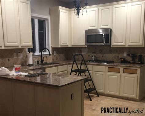 Painted Oak Kitchen Cabinets From To Great A Tale Of Painting Oak Cabinets
