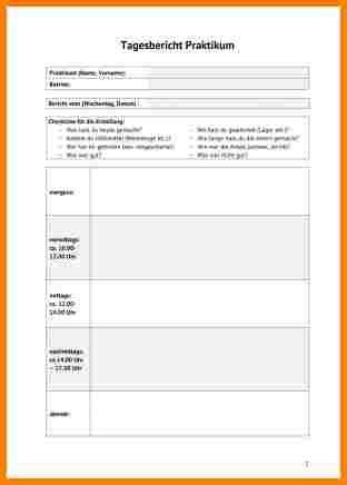 Wochenbericht Praktikum Vorlage Bürokauffrau 7 Praktikum Vorlage Resignation Format