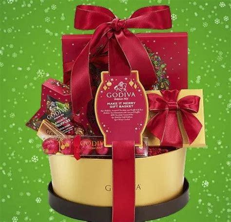 godiva chocolatier   merry christmas gift basket sweepstakes