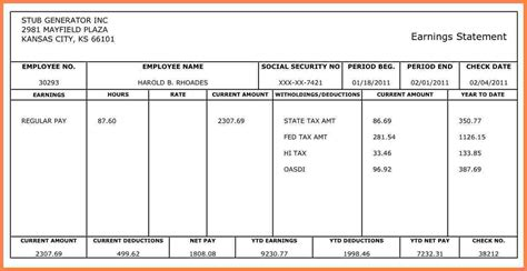 9 free 1099 pay stub template securitas paystub