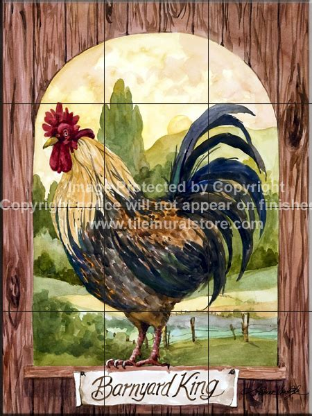 Rooster Tile Murals, Rooster Accent Tiles, Decorative