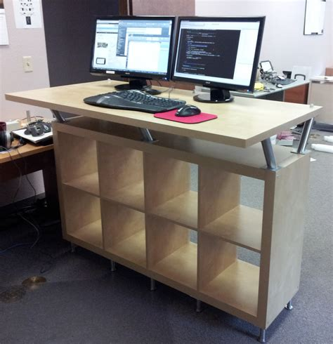 ikea up ikea stand up desk splendid cable and diy standing desk on bathroom ideas