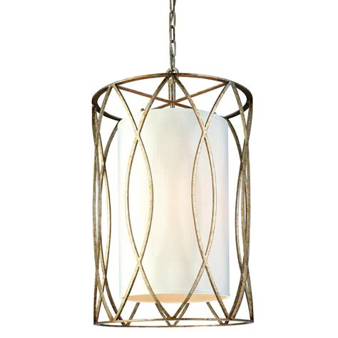 Troy Lighting Sausalito Pendant Troy Lighting Sausalito 4 Light Silver Gold Pendant F1284sg The Home Depot