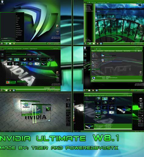 themes for windows 7 nvidia nvidia ultimate windows 8 1 theme by poweredbyostx on