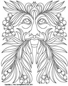 pyrography templates free leaf eater pattern pack