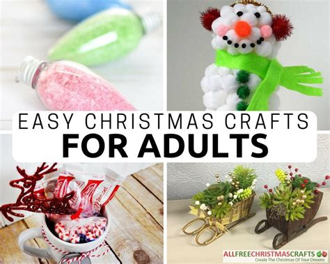 christmas crafts for adults 36 really easy crafts for adults allfreechristmascrafts
