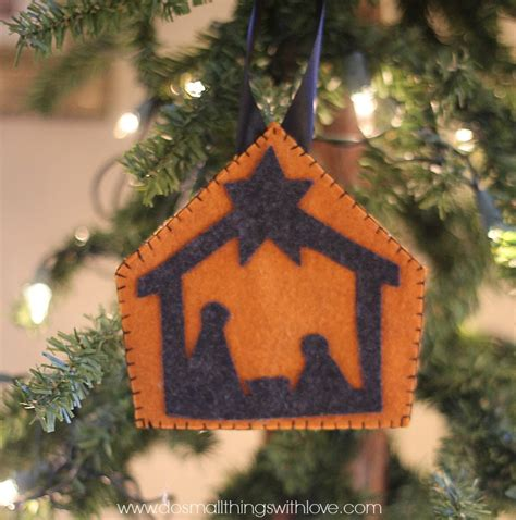 simple felt nativity ornament sugar bee crafts