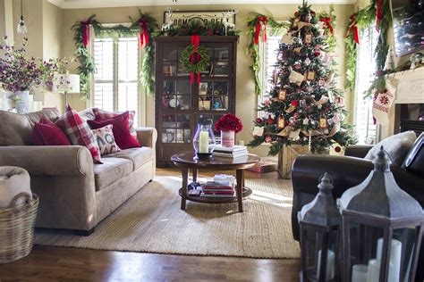 home interior christmas decorations holiday home tour classic christmas decor