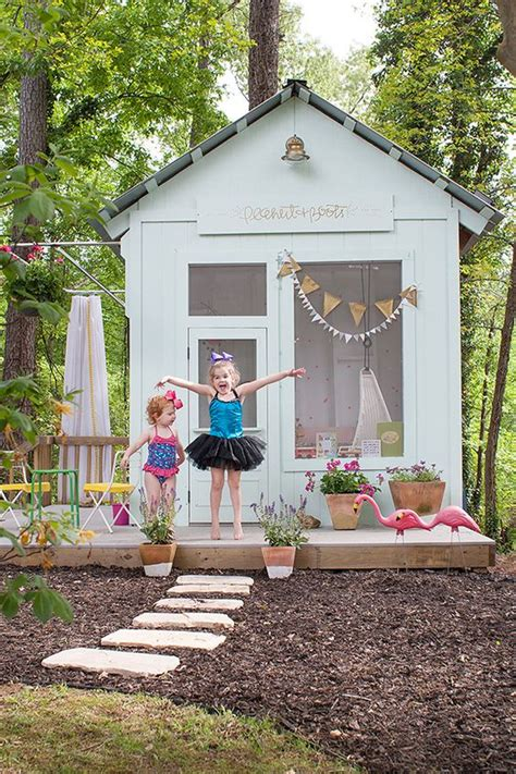 Playhouse Big Backyard by Outdoor Playhouses Backyards And Flower On