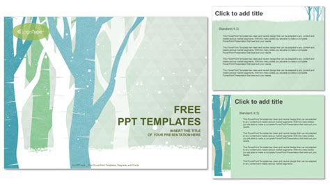 winter trees nature powerpoint templates winter trees nature powerpoint templates