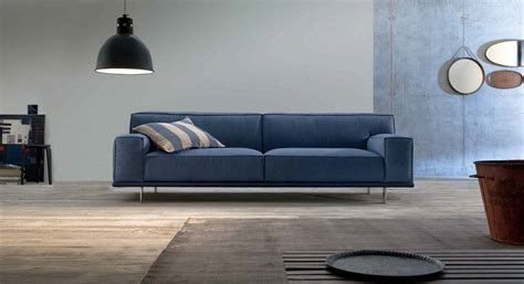 tessuto divano divano in tessuto azzurro arredamento moderno