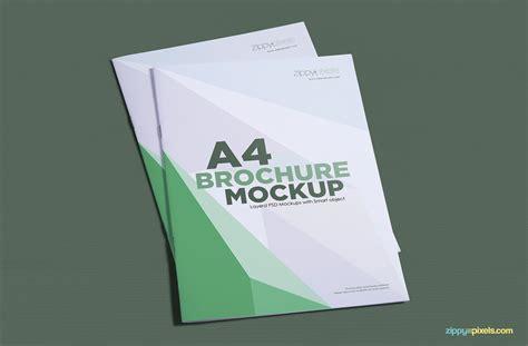 free a4 brochure mockup zippypixels