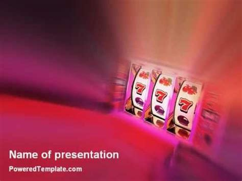Slot Machine Powerpoint Template By Poweredtemplate Com Youtube Powerpoint Templates For Machines