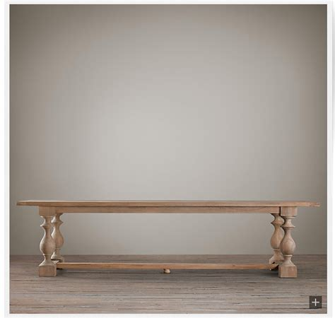 restoration hardware farmhouse table restoration hardware inspired table with thick turned legs