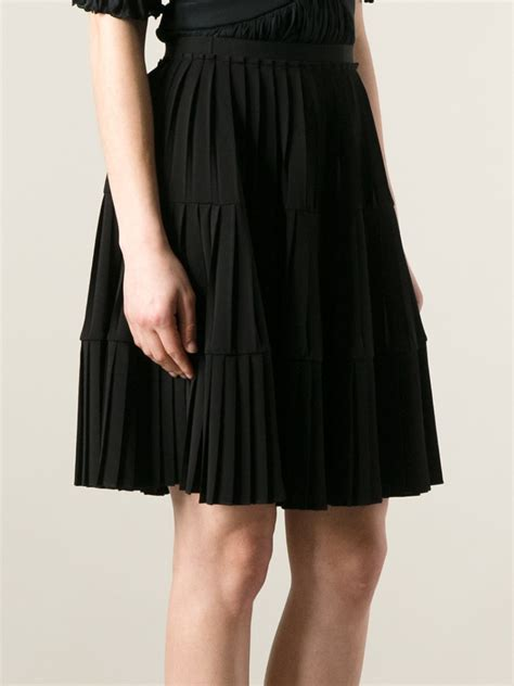 Skirt Black 1 lyst givenchy pleated skirt in black