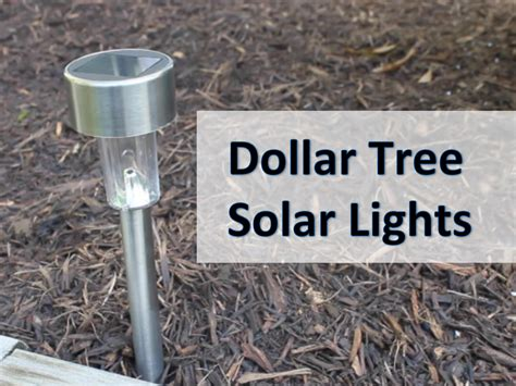 Dollar Tree Solar Light Review Do They Work Youtube Dollar Store Solar Lights