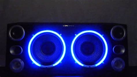 Lu Neon 10 Watt sondpex bb02100 600 watts 10 quot range speaker stereo system with neon ring