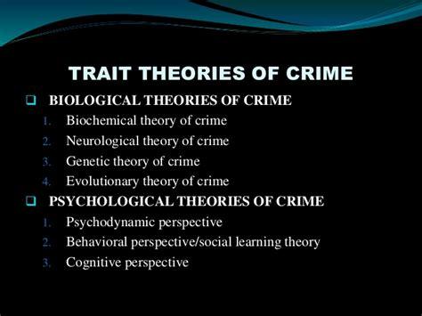 crime pattern theory criminology trait theory