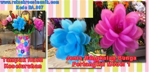 Kode Ba Sekuntum Bunga bunga akrilik pertangkai model 1 berbagai warna