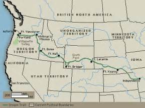 map of the oregon trail with landmarks process oregon trail webquest