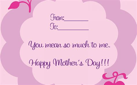 mothers day card mother s day card wallpaper high definition high