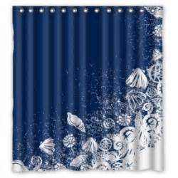 Blue Green Striped Curtains Beach Theme Shower Curtains Foter