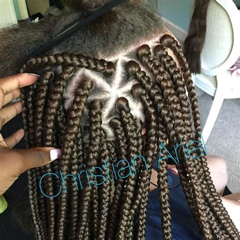 triangle pattern dreads triangle parting box braids hair pinterest box