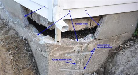 diy basement repair foundation concrete repair rebar dowels adhesive etc doityourself community forums