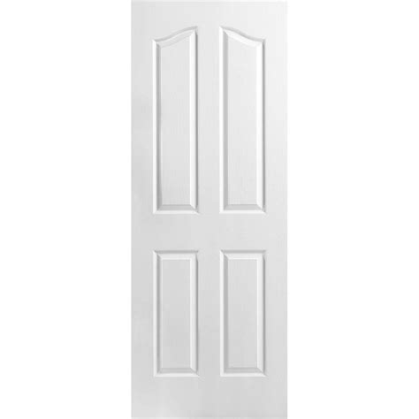 Topi 5 Panel 10 masonite 30 in x 80 in 4 panel arch top hollow textured primed composite single prehung