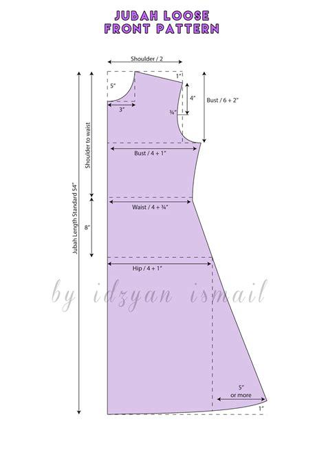 pattern jubah proud sewist jubah abaya pattern