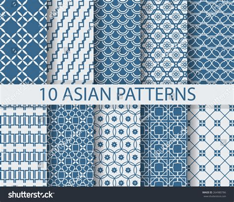 japanese pattern web 10 different chinese asian traditional seamless stock