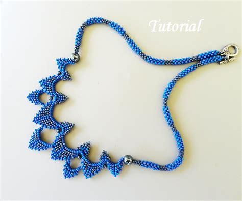 bead jewelry tutorials pdf for bearwoven necklace beading pattern beadbeawing