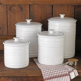 embossed kitchen canister set flour and sugar hold 10 lb