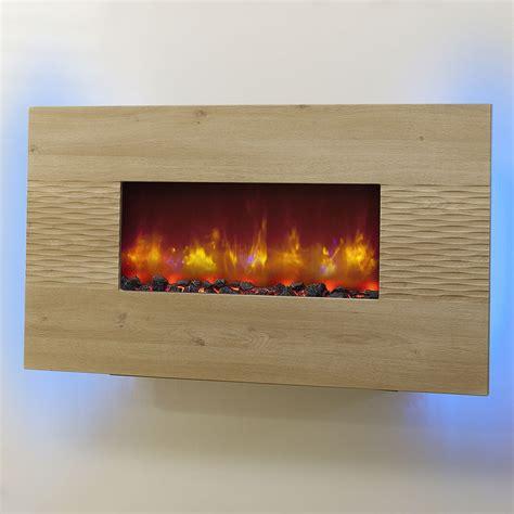 electric wall fires modern be modern orlando led wall hung electric oak weave