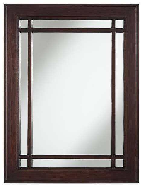 mission style bathroom mirror arts and crafts mission mission dark espresso 26 quot x 34