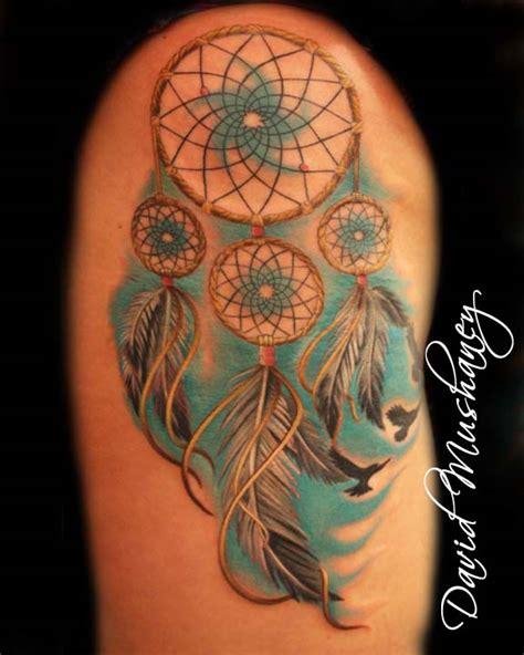 dream catcher tattoo by davidmushaneytattoos on deviantart