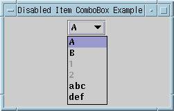 java swing combobox jcombobox exles