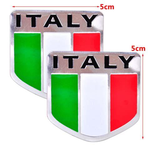Italien Aufkleber Motorrad by 2 Stk Auto Italien Flagge Emblem Italien Aufkleber