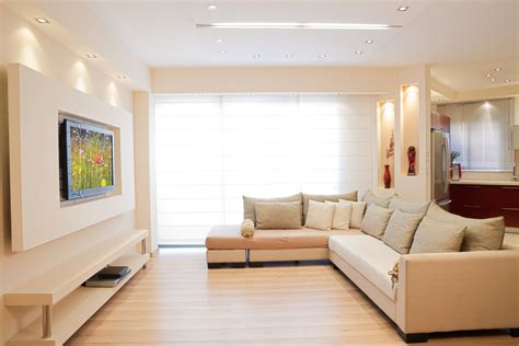 20 ways to incorporate wall mounted tvs and shelves into - Living Room Ideas With Tv On Wall
