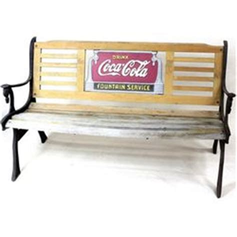 coca cola bench worth coca cola park bench with cast iron legs