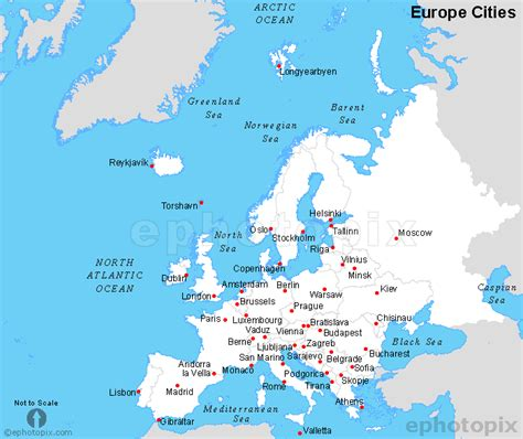 world map of cities in europe europe cities map cities map of europe