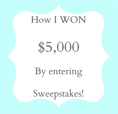 I Won A Sweepstakes - i can t believe i won 5 000 by entering sweepstakes livin the mommy life