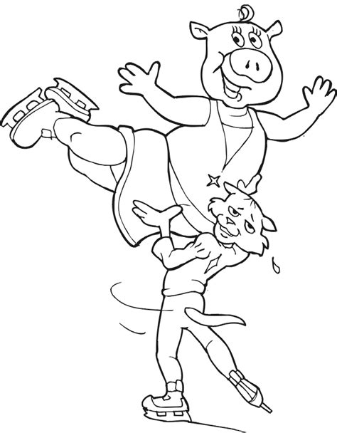Figure Skating Coloring Pages Coloring Home Coloring Pages Skating