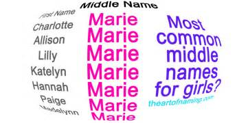 Middle Names For Middle Names For