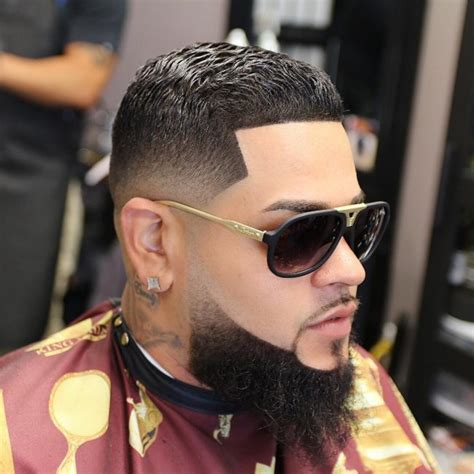 how to taper your beard faded haircut into beard male models picture