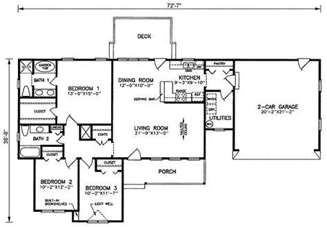 1500 square foot ranch house plans ranch style house plan 3 beds 2 baths 1500 sq ft plan