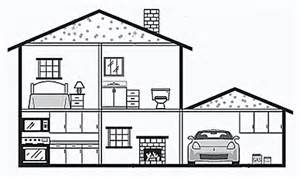 Drawing Of A House With Garage by Inside A House Draw Paint Objects Pinterest A