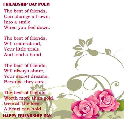 day friendship poems friendship day poems 2018 happy friendship day best poetry